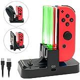 TENCO Switch Joy-Con 充電器 スタンド4台同時充電 急速充電 携帯便利 Tyep-C USBケーブル付き LEDインジケータ付き