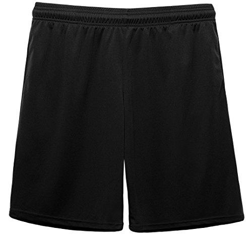 コンプレックス(KomPrexx) スポーツ ショートパンツ メンズ ドライ 吸汗速乾 ランニング フィットネス ハーフパンツ(Black,L)