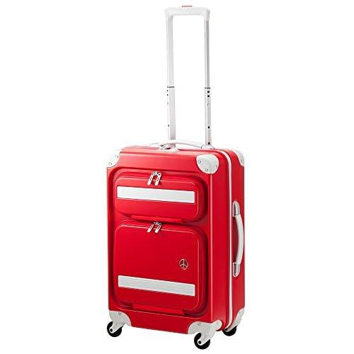 (プラスワン)PLUS ONE スーツケース PEACE×Passenger 8170-56P 55cm アップルレッド