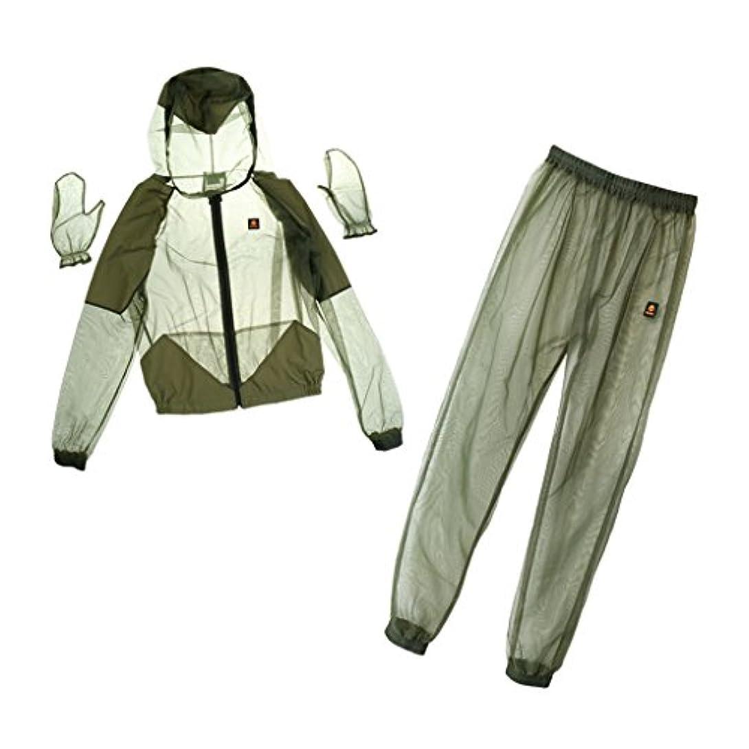先祖狂乱申請者Fenteer 虫/蚊よけ 服装(ジャケット+パンツ+手袋) 蜂 対策 保護服 軽量 ガーデニング 釣りなど 野外活動に最適 快適 安全 全4サイズ