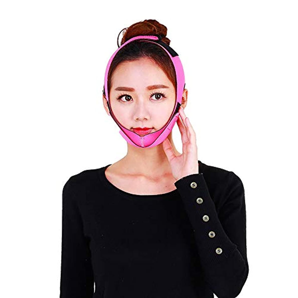 ストリップ自分を引き上げる社交的顔の持ち上がる痩身ベルト - 薄い顔包帯二重あごのデバイス無料の顔のマッサージ整形マスクが顔と首を締めます