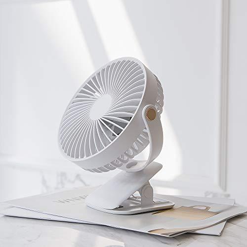 【2019年最新改良版】 JUNSPOW usb扇風機 卓上扇風機 クリップ 充電式 usbファン 超強風 静音 風量4段階調節 360度角度調整 長時間連続使用 LEDライト機能付き