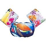 ベビー用浮き輪 アームリング ベスト 水泳リング ジャケット フロート スイムリング 水泳サークル 強い浮力 インフレータブル 子ども用(カメ 2~7歳 10~30kg)