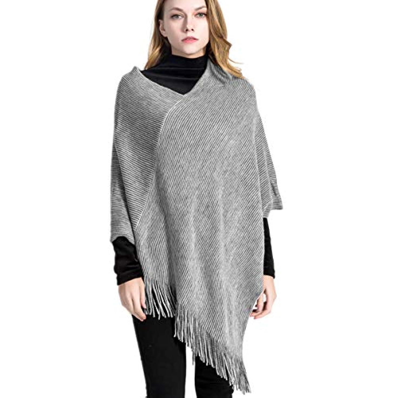 することになっている作る増強VBIGER 大判マフラー レデイーススカーフ ストール ストライプ 女性 ファッション保温 タッセル付き