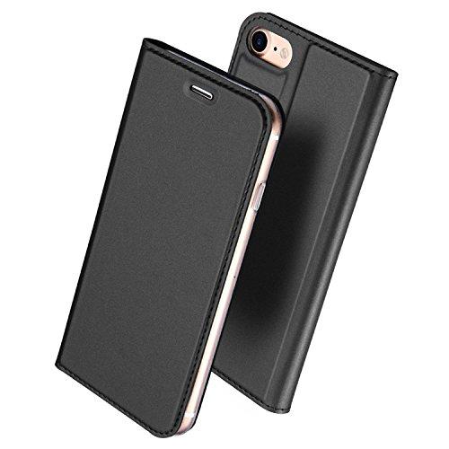 iPhone6 Plus ケース iPhone6s Plus ケース 手帳型 薄型 軽量 耐衝撃 耐摩擦 高級PUレザー 財布型 カード収納 マグネット スタンド機能 付 き スマホケース アイフォンケース 人気 おしゃれ ケース (iPhone6 Plus/6s Plus, グレー)