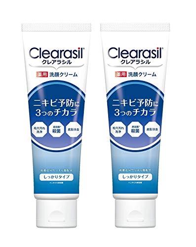 【医薬部外品】クレアラシル ニキビ対策薬用洗顔フォーム3つのチカラ しっかりタイプ120g×2個セット