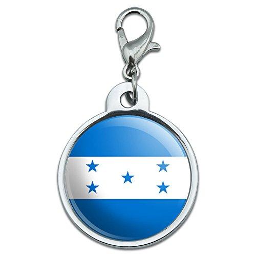 ホンジュラス国立国旗小さな金属IDのペットの犬のタグ