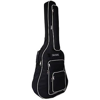 CAHAYA ギターケース 軽量 アコースティックギター ソフト ケース 六つ収納ポケット クッション付き リュック型 手提げ
