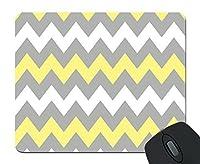 grey vs young yellow chevron zigzag pattern unique custom mouse pad