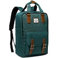 Backpack for Teen Girls,VASCHY Vintage Laptop Backpack Water-Resistant School Backpack Blackish Green