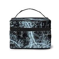 メイクポーチ 化粧ポーチ コスメバッグ バニティケース トラベルポーチ 数学 式 記号 雑貨 小物入れ 出張用 超軽量 機能的 大容量 収納ボックス
