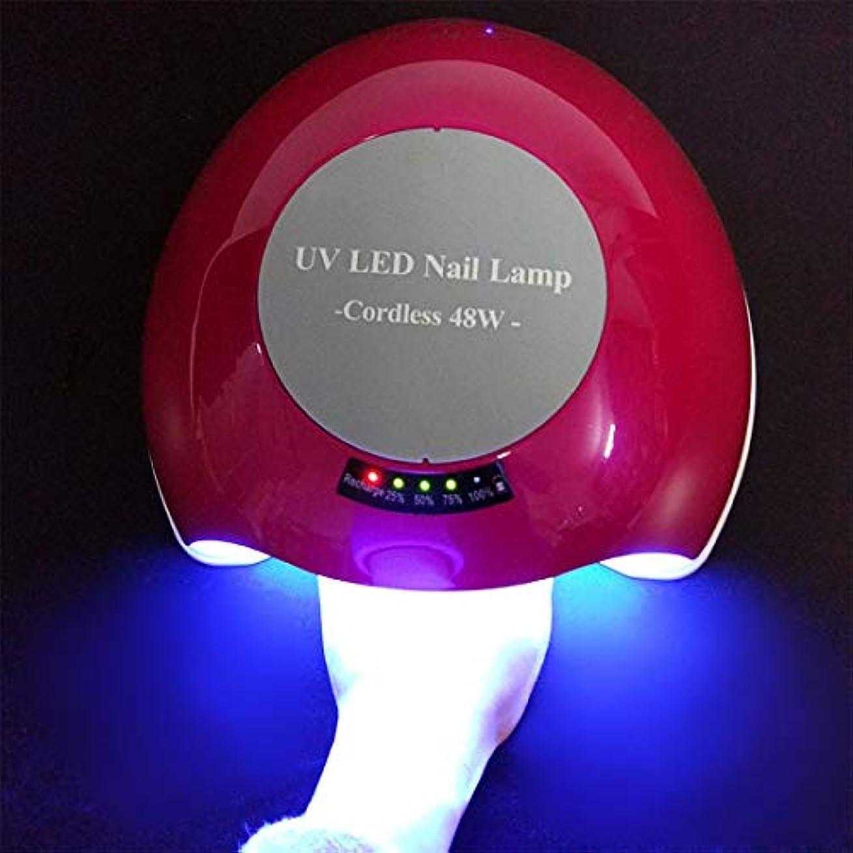 吹きさらしプレーヤー打ち負かすシェラックおよびゲルの釘のための48W専門の紫外線およびLEDの釘ランプそして釘のドライヤーの表示,Red