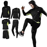 (シーヤ) Seeya コンプレッションウェア セット スポーツウェア メンズ 長袖 半袖 冬 上下 5点セット 6カラー トレーニング ランニング 吸汗 速乾