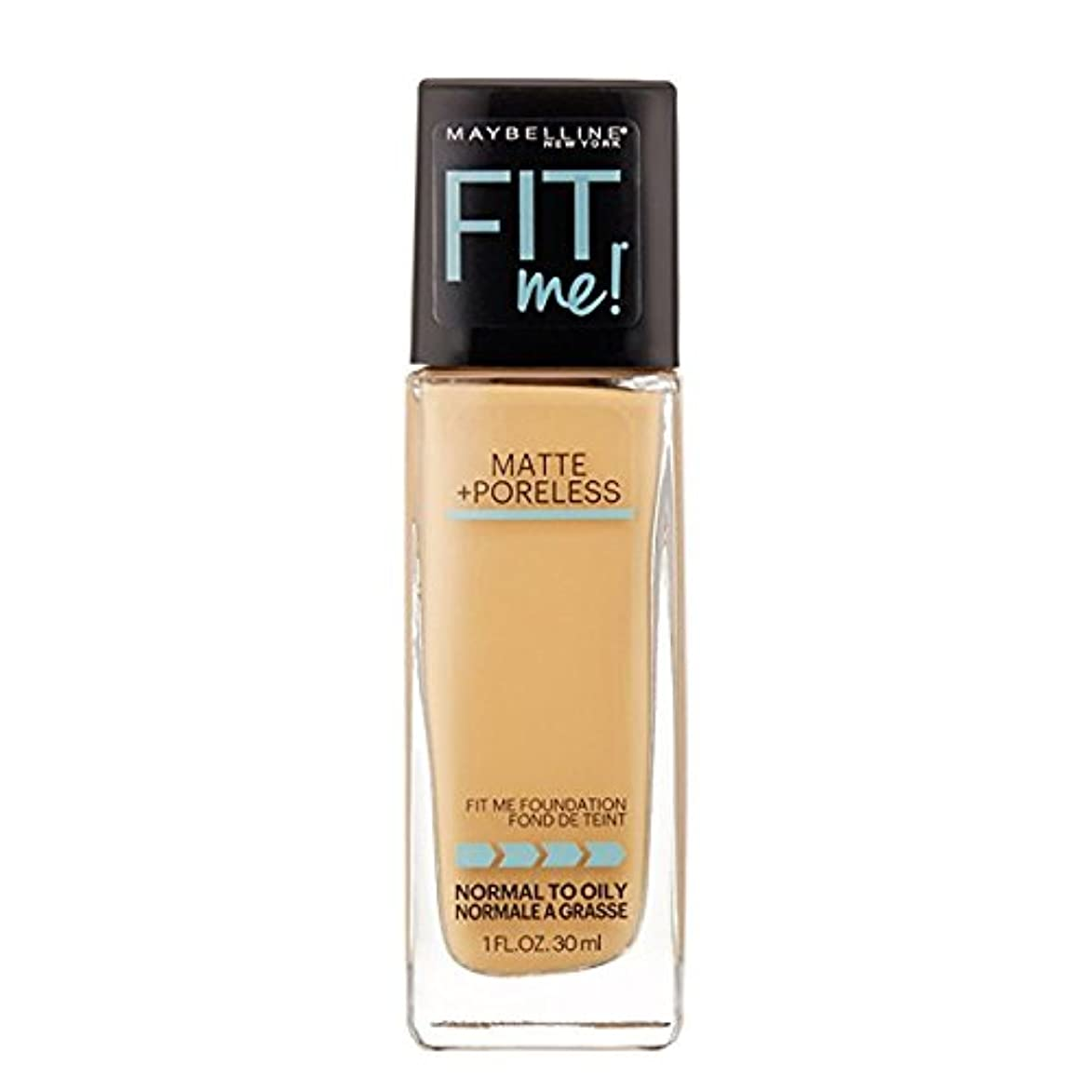 綺麗なバージン手のひら(3 Pack) MAYBELLINE Fit Me! Matte + Poreless Foundation - Natural Beige 220 (並行輸入品)