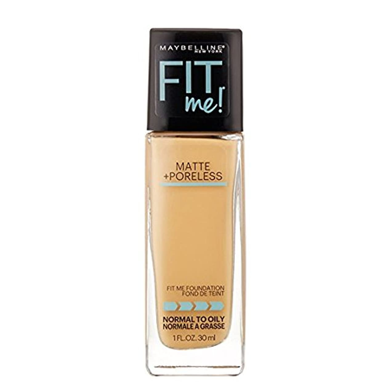 パンチ吸収する動(6 Pack) MAYBELLINE Fit Me! Matte + Poreless Foundation - Natural Beige 220 (並行輸入品)