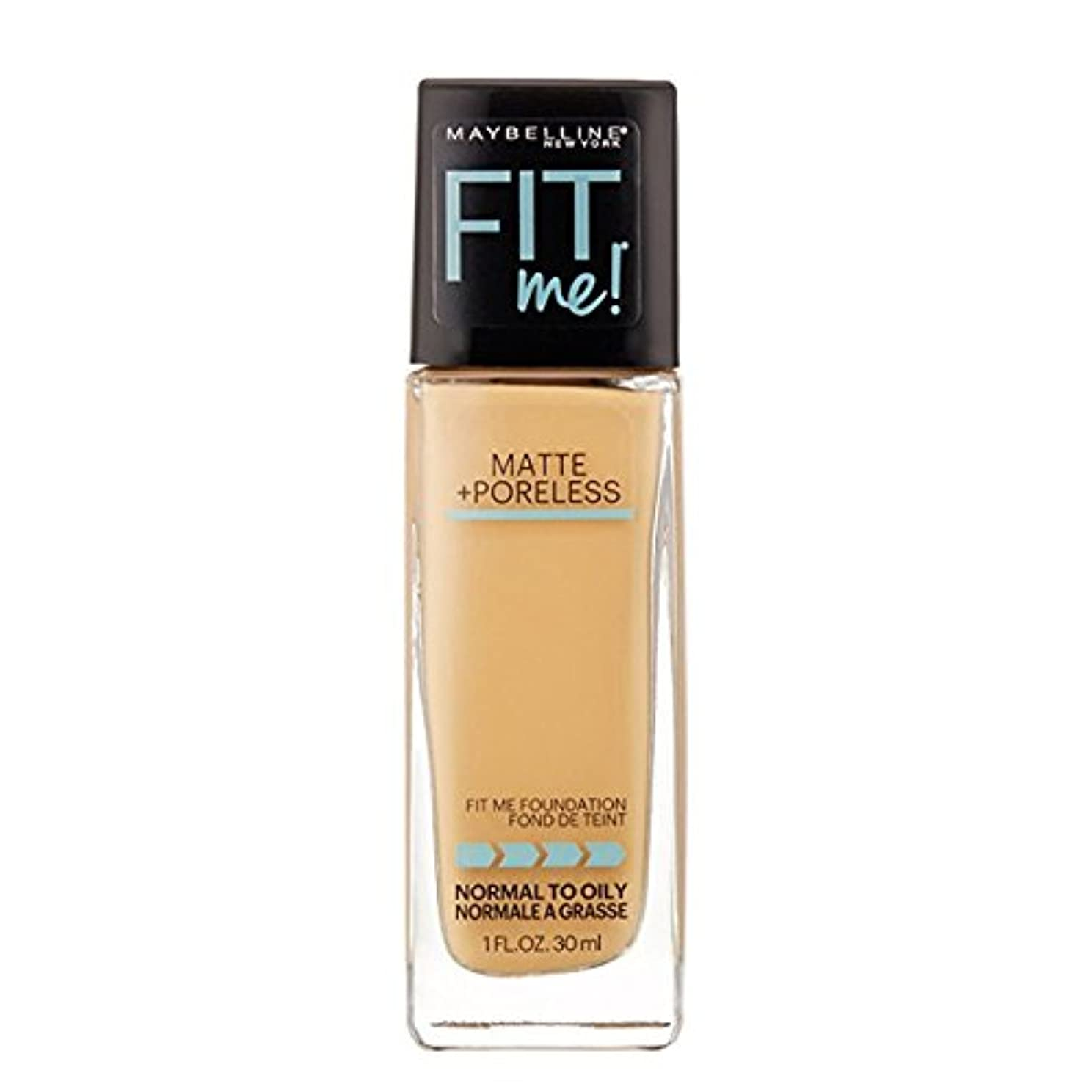 ひばり生産性住所(6 Pack) MAYBELLINE Fit Me! Matte + Poreless Foundation - Natural Beige 220 (並行輸入品)