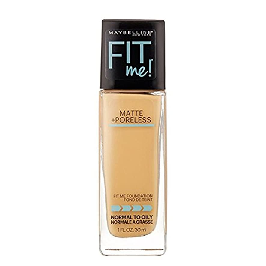 慣れている性格スライス(3 Pack) MAYBELLINE Fit Me! Matte + Poreless Foundation - Natural Beige 220 (並行輸入品)