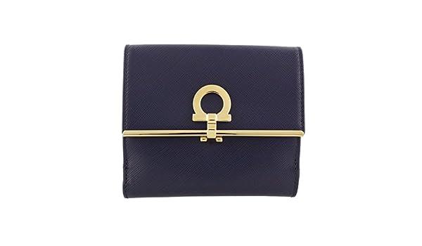 d78838b3f036 Amazon.co.jp: フェラガモ 二つ折り財布 レディース ネイビー 224639 561518 OXFORD BLUE [並行輸入品]:  服&ファッション小物