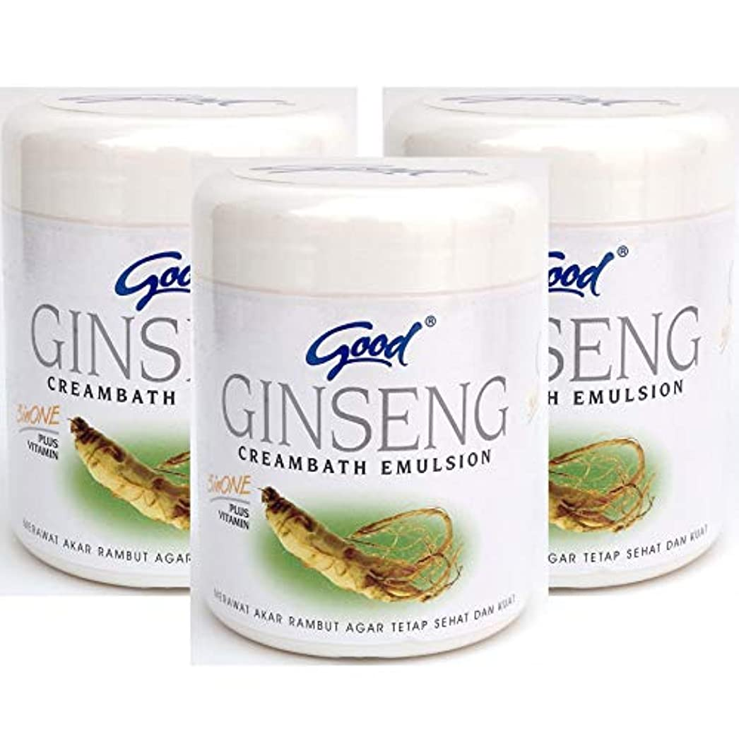 桁事実上ごめんなさいgood グッド インドネシアバリ島の伝統的なヘッドスパクリーム Creambath Emulsion クリームバス エマルション 250g × 3個 Ginseng ジンセン [海外直送品]