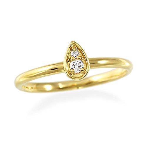[ジュエリーツツミ]JEWELRY TSUTSUMI K18イエローゴールドダイヤモンドリング(ピンキーリング) RFR094-001 9号