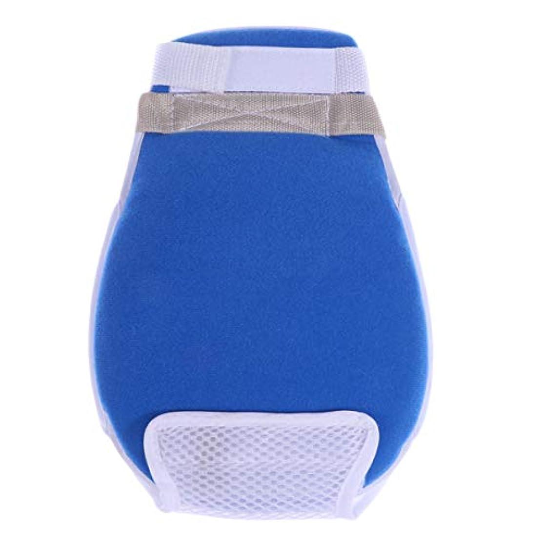 降ろす罪収入Healifty 医療用手袋傷防止抗引っ張り保護手袋患者の年配の女性男性用の手結束バンド1個(青)