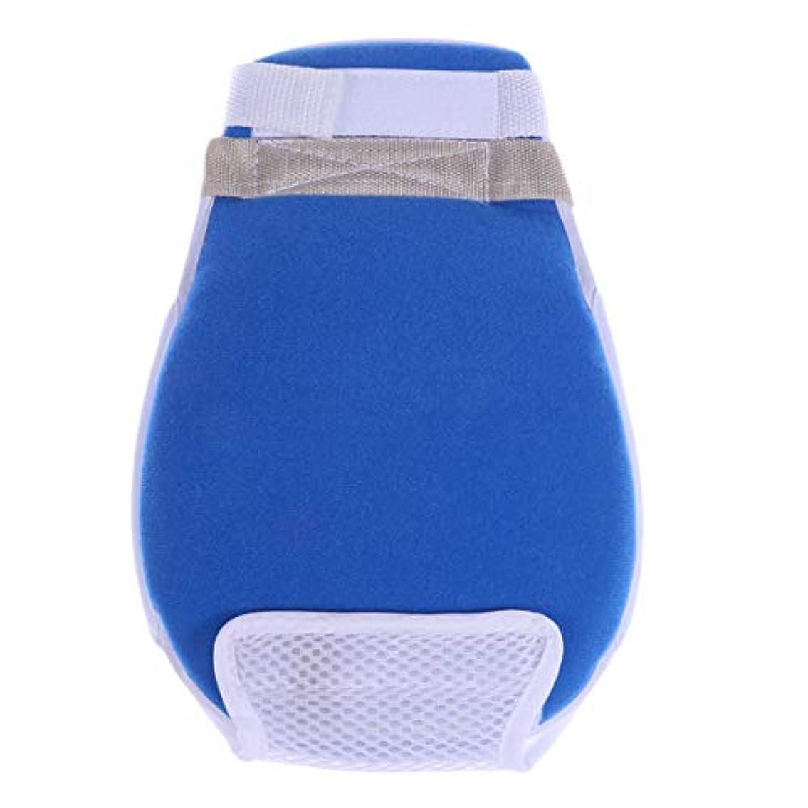 いろいろ仲間基準Healifty 医療用手袋傷防止抗引っ張り保護手袋患者の年配の女性男性用の手結束バンド1個(青)