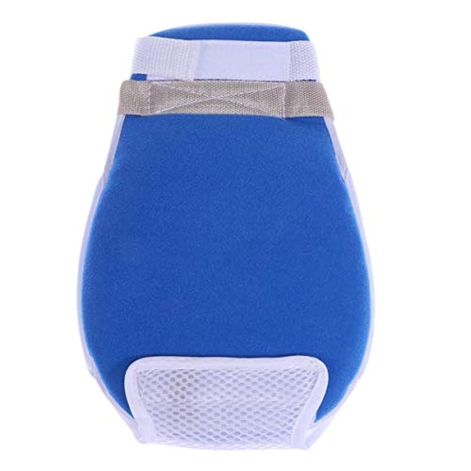 秘密の厚くするいうHealifty 医療用手袋傷防止抗引っ張り保護手袋患者の年配の女性男性用の手結束バンド1個(青)