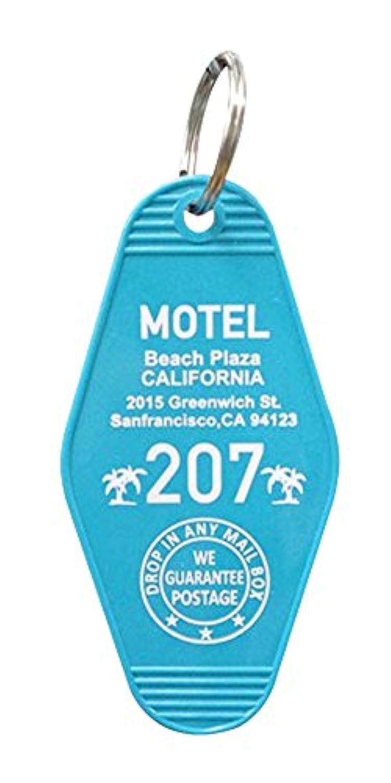 S.H.O.ENTERPRISE キーホルダー 青 9×4.5×1cm ホテルキーホルダー MOTEL CALIFORNIA