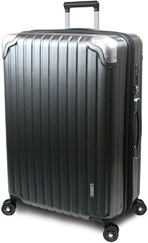 【SUCCESS サクセス】 スーツケース 3サイズ 【 大型 76cm / ジャスト型 70cm / 中型 65cm 】 超軽量 TSAロック搭載 【 プロデンス コーナーパットモデル】 (大型 Lサイズ 76cm , ガンメタヘアライン )
