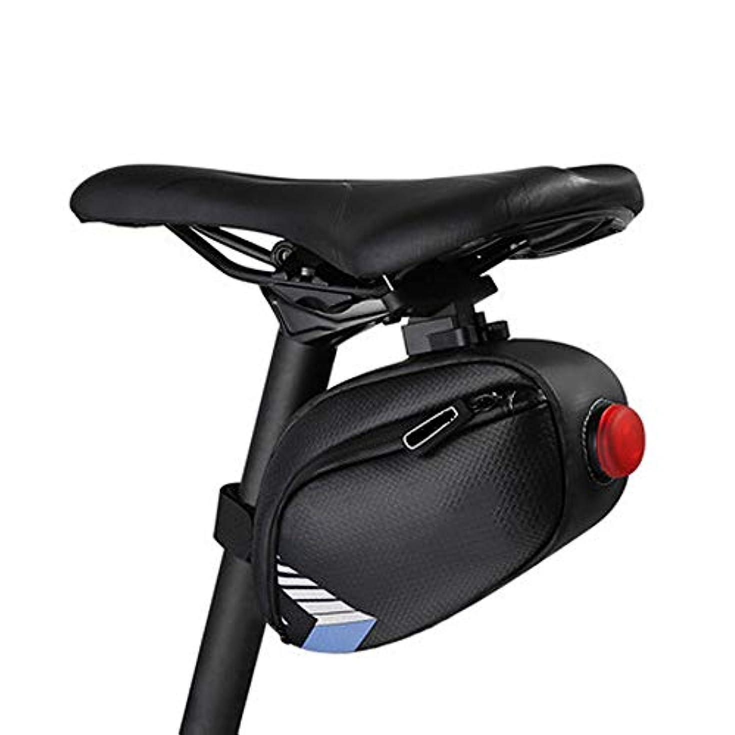 神経障害くま動員する自転車シートパックバッグサイクリング機器大容量サドルバッグ サイクリングバッグ防水 (色 : 紫の)