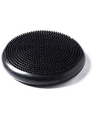 ポータブルサイズpvcボディエクササイズフィットネス安定性ディスクバランスヨガパッドウォブルクッション足首膝ボードポンプ付き(パープル)