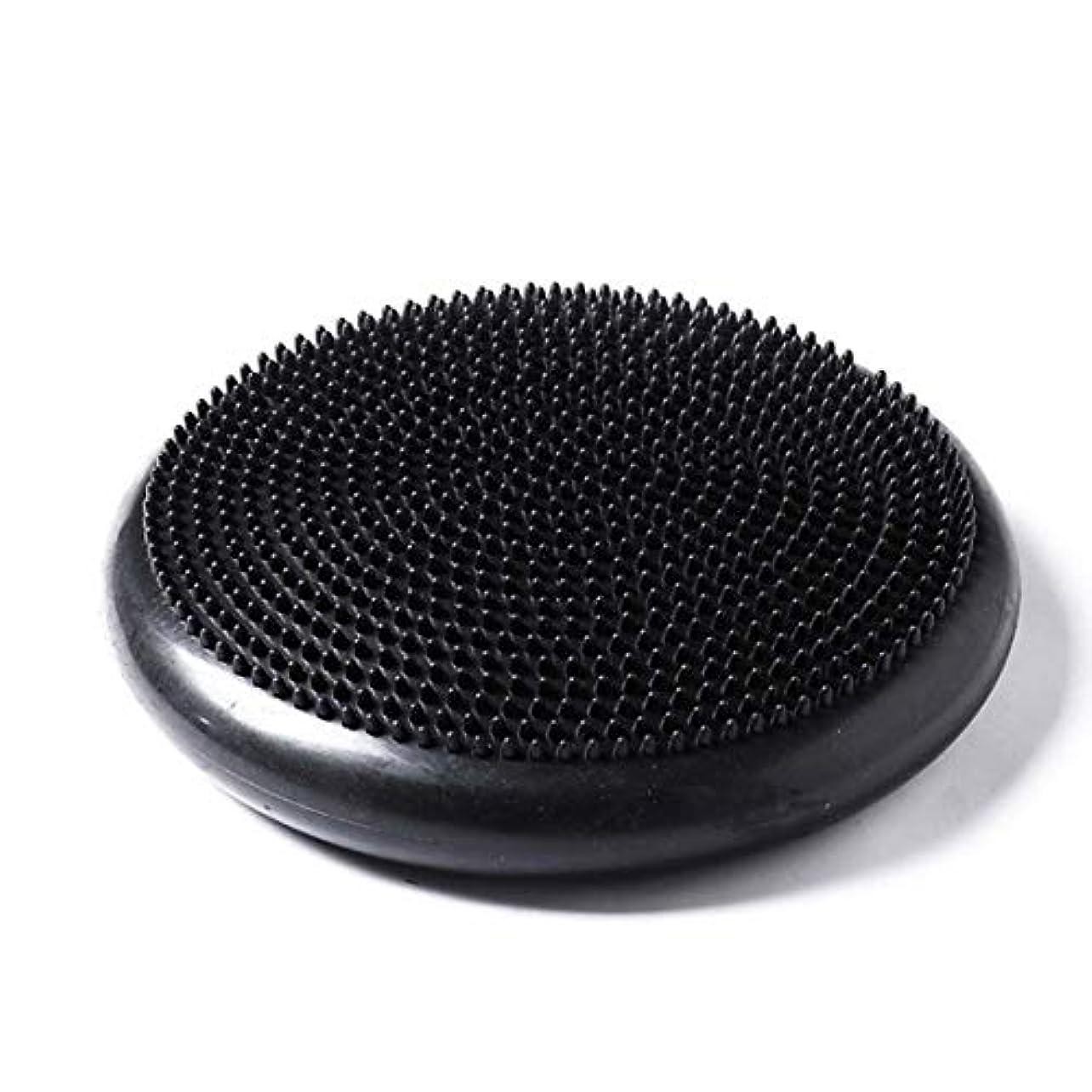 黒人面白い導入するポータブルサイズpvcボディエクササイズフィットネス安定性ディスクバランスヨガパッドウォブルクッション足首膝ボードポンプ付き(パープル)