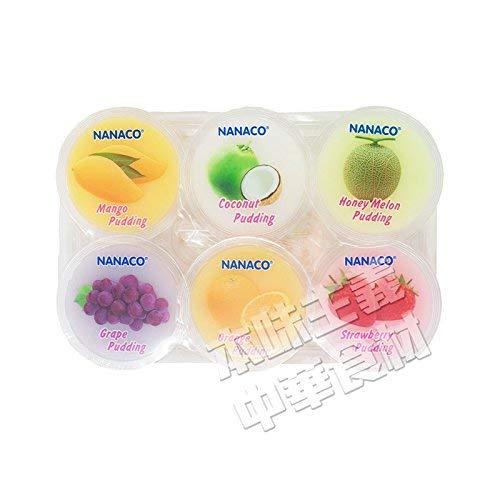 タイ産6種果物のプリン(葡萄/メロン/ココナッツ/マンゴー/オレンジ/莓)ゼリー入り80g・6個入り・お手頃・夏・デザート・冷やし・子供に大人気・タイ・本場の味