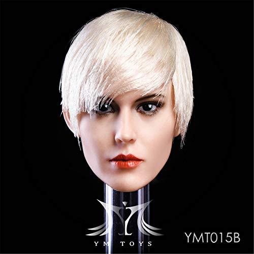【R・DOLL】 1/6 女性 フィギュア ドール 素体 【 ヘッド 頭 】 RUI 美人・顔 コスプレ アクセサリー 植毛・タイプ 長髪 短髪 YMT015