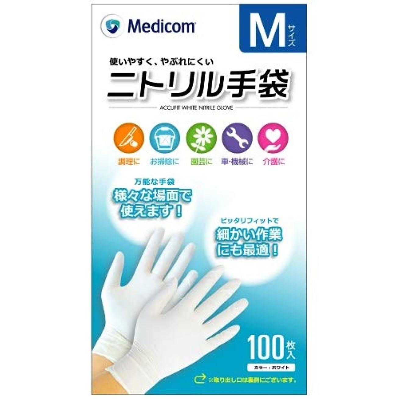 お金ゴム投資ピザARメディコム Medicom ニトリル 手袋 Mサイズ 100枚入