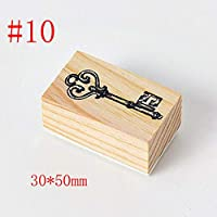 FidgetGear スクラップブッキングの文房具DIYの技術の切手のための型切手の木のゴム製切手 #10