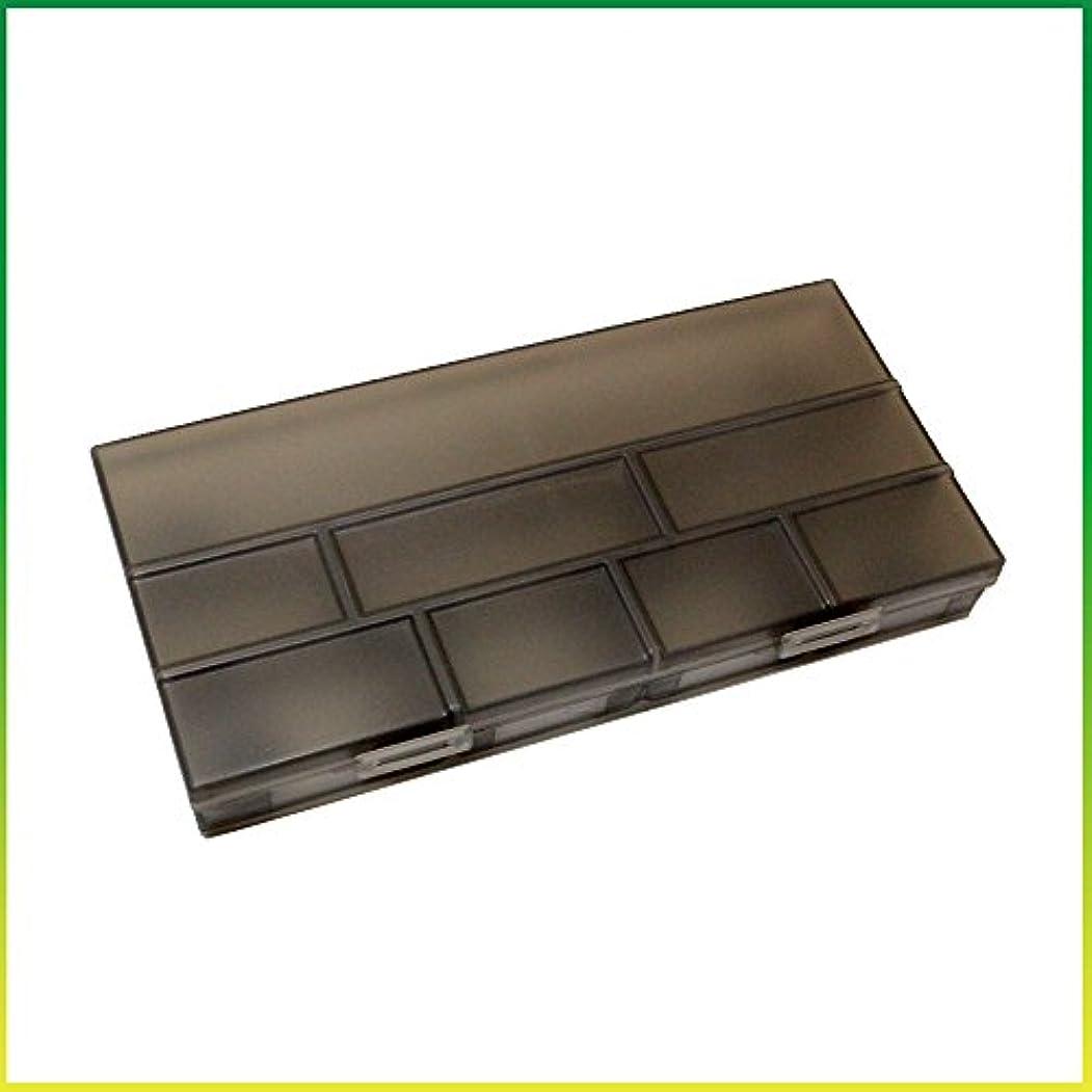 ヒューバートハドソンスライス印象的なヘアピン ケース ノンスリップ コスメボックス メイクボックス メークボックス メイクケース メークケース ツールボックス ツールケース (ブラック)
