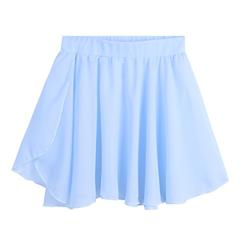 c2d5870818a96 イーエフイー)EFE 子供バレエスカート ダンススカート 子供用 無地 ダンスウェア 水色 M