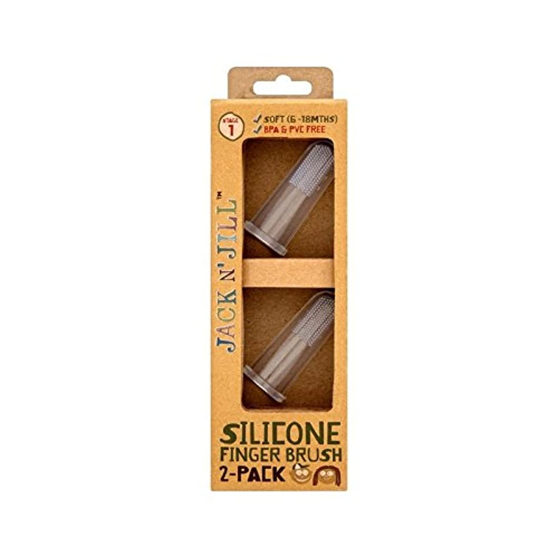 スキー違反ほのかシリコーン指ブラシ2パックあたりパック2 (Jack N Jill) (x 6) - Jack N' Jill Silicone Finger Brush 2 Pack 2 per pack (Pack of 6) [並行輸入品]