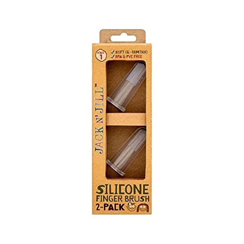 高架ギャップ西部シリコーン指ブラシ2パックあたりパック2 (Jack N Jill) (x 4) - Jack N' Jill Silicone Finger Brush 2 Pack 2 per pack (Pack of 4) [並行輸入品]