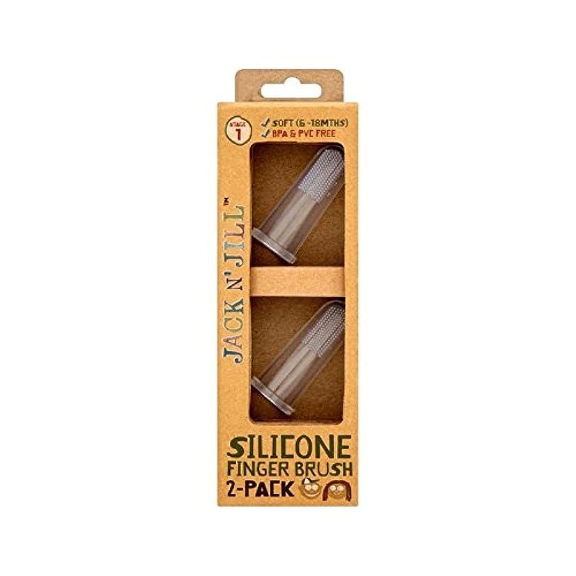 タクトカウボーイ人工シリコーン指ブラシ2パックあたりパック2 (Jack N Jill) (x 6) - Jack N' Jill Silicone Finger Brush 2 Pack 2 per pack (Pack of 6) [並行輸入品]