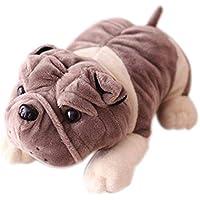 小さいかわいい犬子犬ぬいぐるみブルドッグSharpeiプラッシュPugs Soft Toys for Kids Gifts自動車用装飾by loveqmall 35CM