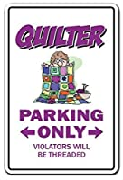 Quilter Parking Quilg Sewing Circle Group Quilt ティンサイン ポスター ン サイン プレート ブリキ看板 ホーム バーために