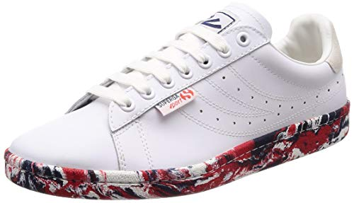 [スペルガ] スニーカー 4832-EFGLU 937 White Multi Red Blue EU 43 (27.5)(27.5 cm) 2E