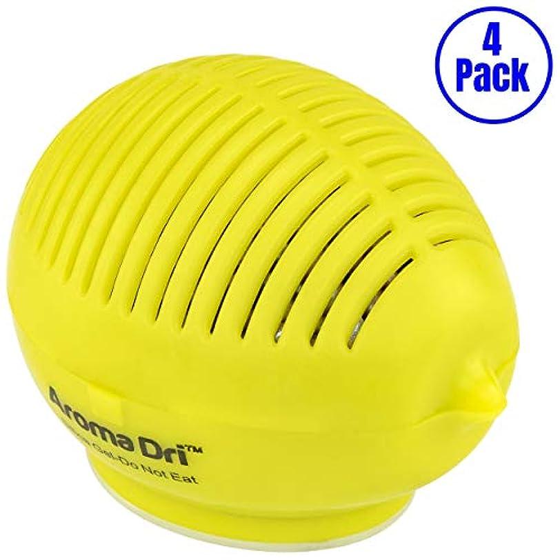 降伏ハンカチ急性Aroma Dri 50gm ラベンダーの香り シリカゲルレモン容器 4-Pack LEMON50LAVENDER-4PK