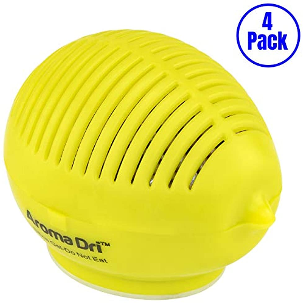 水素均等に荷物Aroma Dri 50gm ラベンダーの香り シリカゲルレモン容器 4-Pack LEMON50LAVENDER-4PK