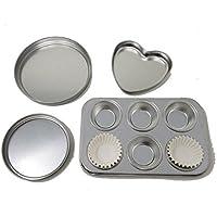 型4個セット Easy-Bake Oven対応 ハート型1個 丸型2個 角形の小さい型1個 代用品