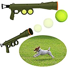 Dog Tennis Ball Gun Launcher Thrower with 2 Squeaky Balls Pet Play/Fetch/Throw Outdoor Toy Dog Tennis Ball Gun Launcher Pet Fetch Throw Outdoor Toy