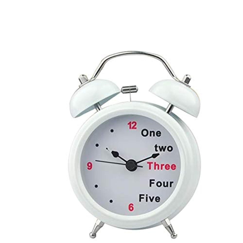 Beuway(ビーユーウェー) セイコー クロック目覚まし時計 リズム時計 コンパクトサイズ電波時計 アナログ 小さい かわいい デイリ 大音量 美しい 耐久性のある ファッション シンプル 2色 (ホワイト)