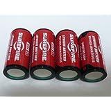SUREFIRE(シュアファイア)純正3Vリチウム電池 123A 4個パック